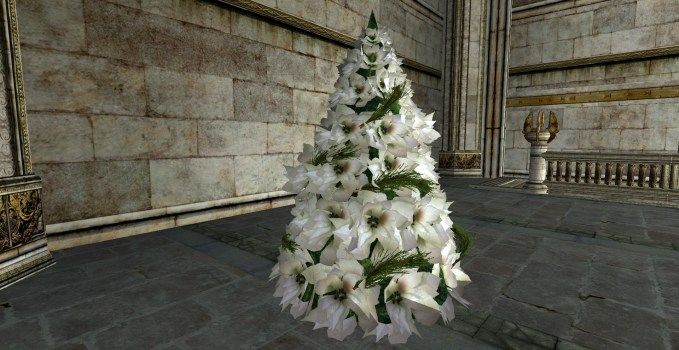 White Poinsettia Yule Tree