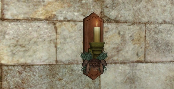 Evergreen Yule Sconce