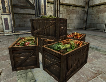 Crates of Vegetables