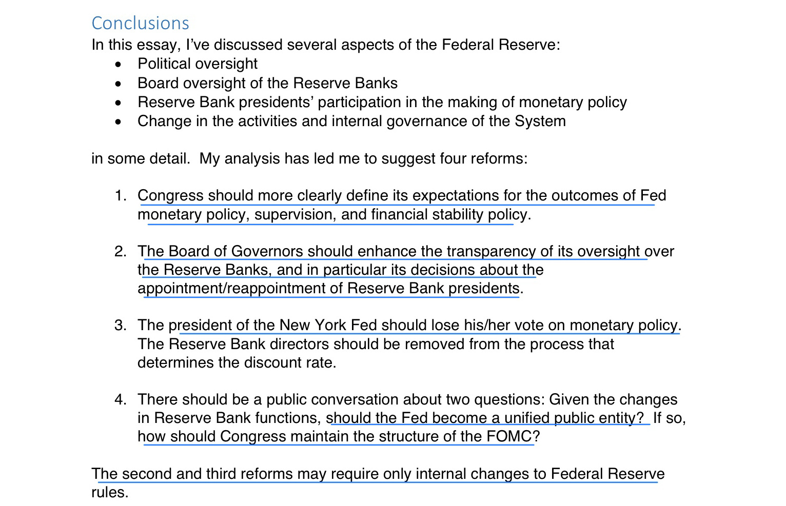 kocherlakota on how to reform the federal reserve system conclusion of the decentralized central bank a review essay on the power and independence