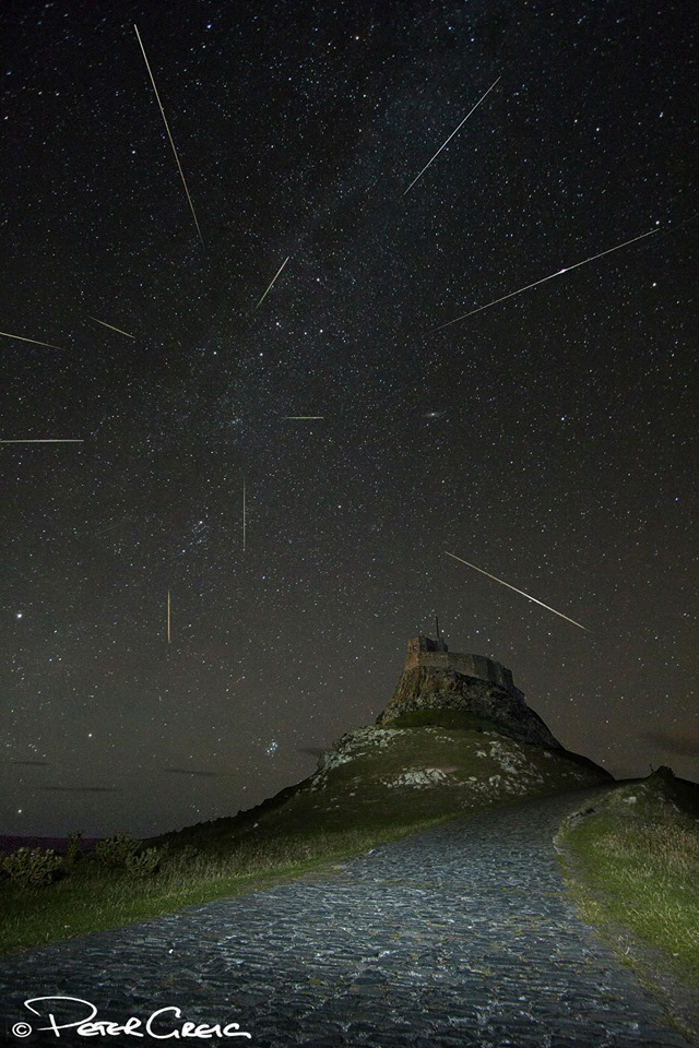View larger. | Perseid meteor shower 2013.  Composite image by Peter Greig Photography.  See more of Peter's work here.