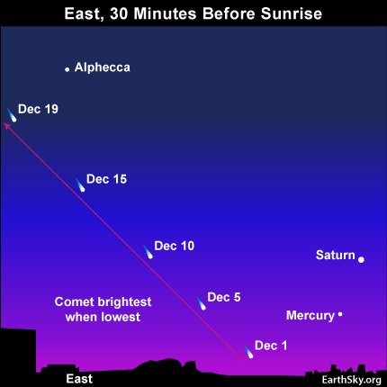 The best time to see Comet ISON should be early December, after its November 28 perihelion - or closest point to the sun - IF the comet survives!