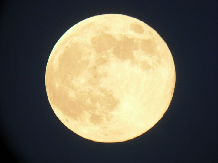 August 10 supermoon over Ireland by Damian O'Sullivan.