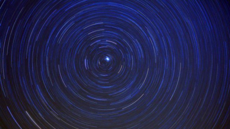 Sky wheeling around Polaris, the North Star.