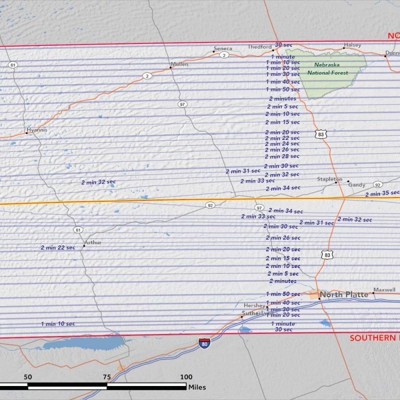 Nebraska Map 2017 Solar Eclipse