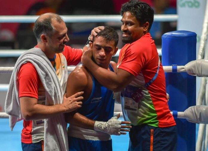 Amit Panghal wins Gold