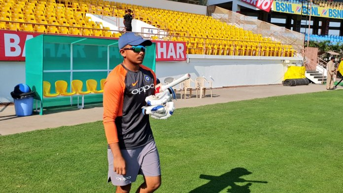 Prithvi Shaw all set for Test Debut