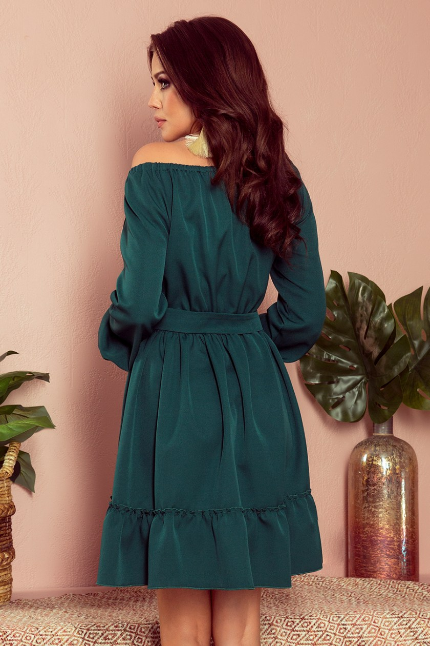 casual green back -