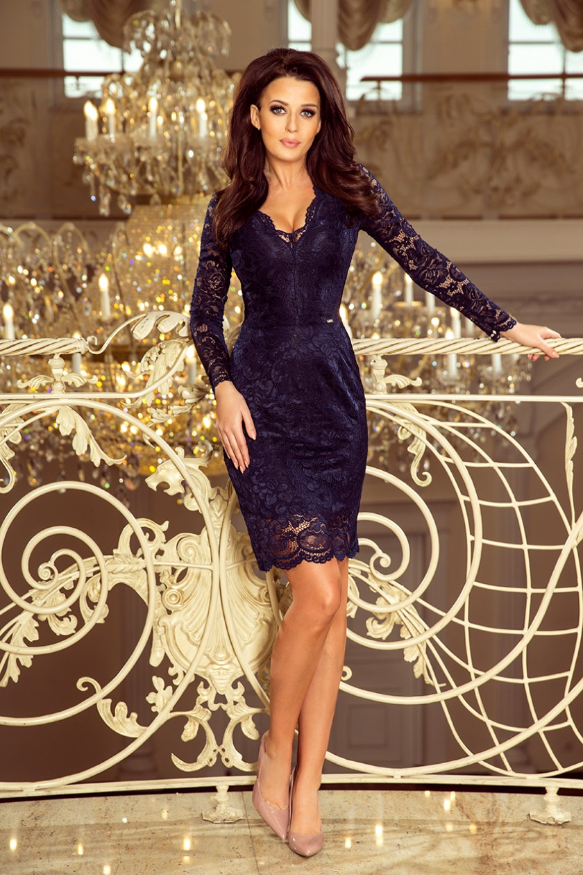 lace navy big -