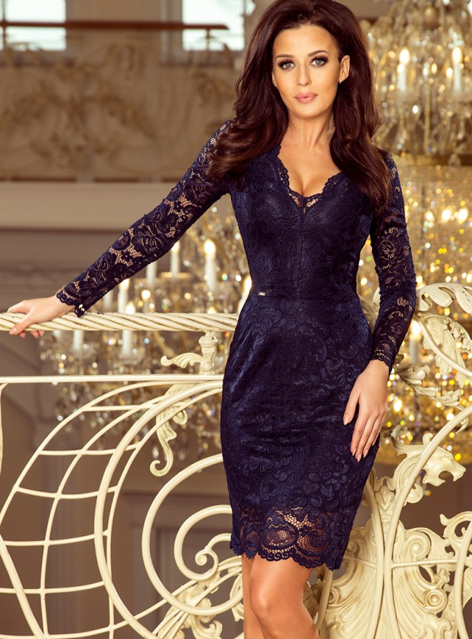 Rochie Cocktail Dantela Navy