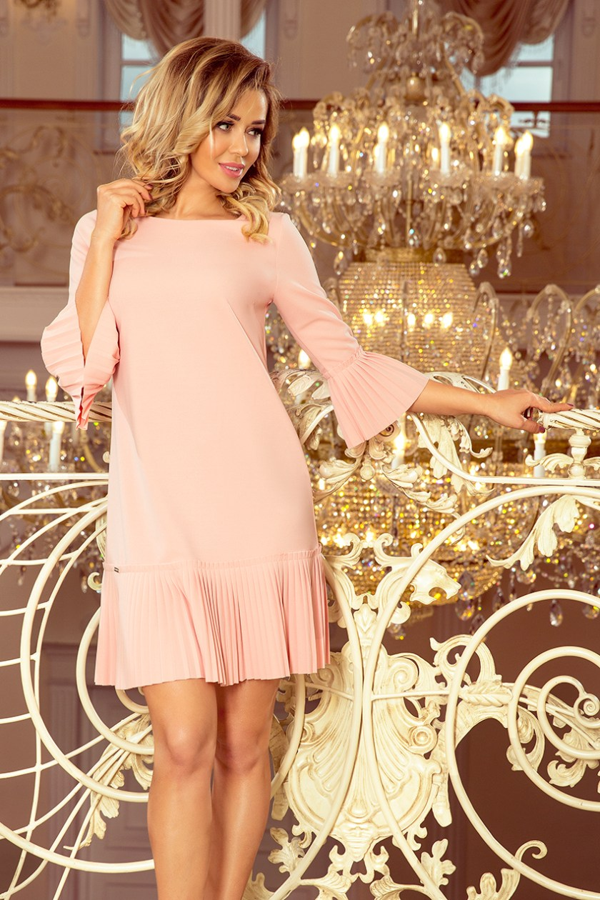 pleated pastel pink -