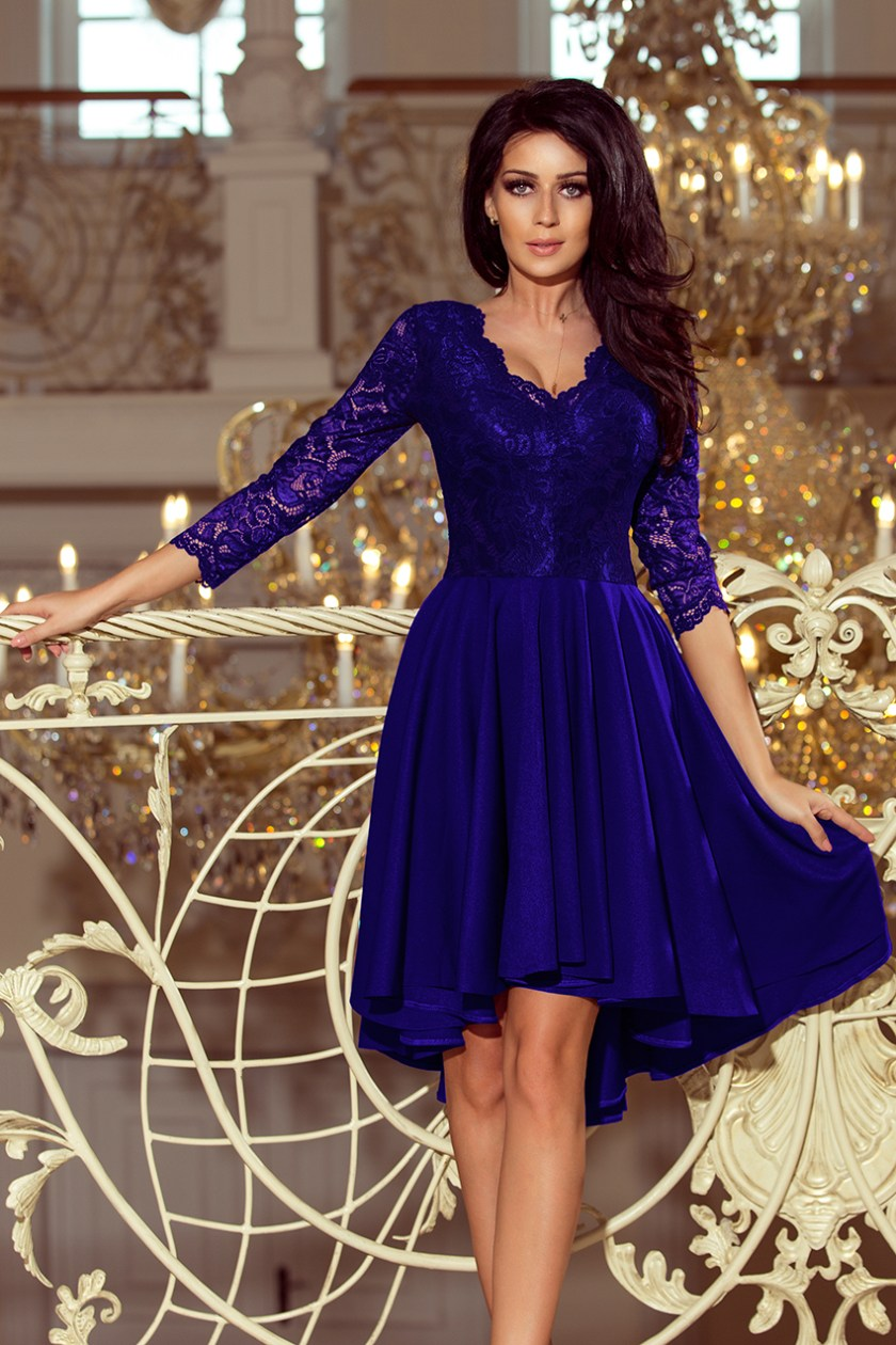 cocktail dress nude blue -
