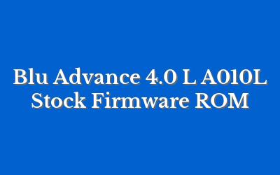 Blu Advance 4.0 L A010L