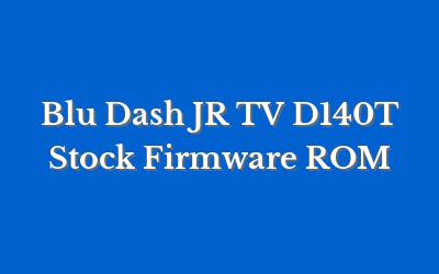 Blu Dash JR TV D140T