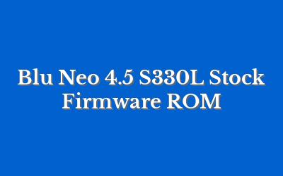 Blu Neo 4.5 S330L