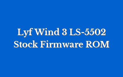 Lyf Wind 3 LS-5502