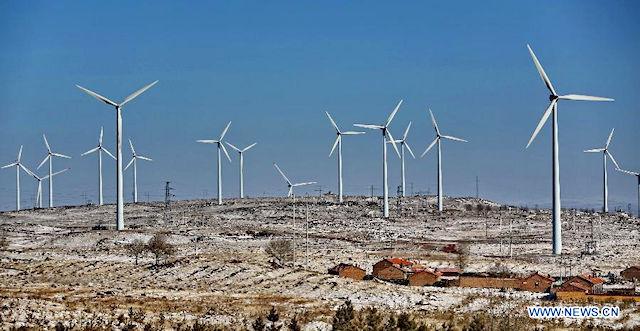 Wind turbines in Zhangjiakou
