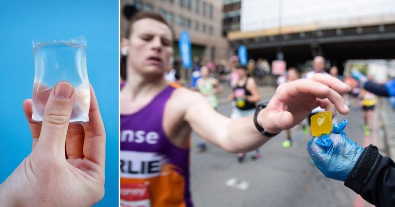 London Marathon uses edible and biodegradable water pouches to replace  plastic water bottles - Good Times