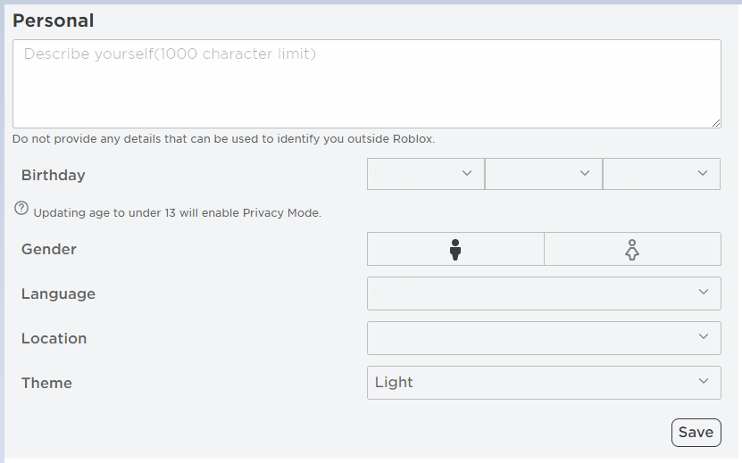 Changing Your Account Theme Roblox Support