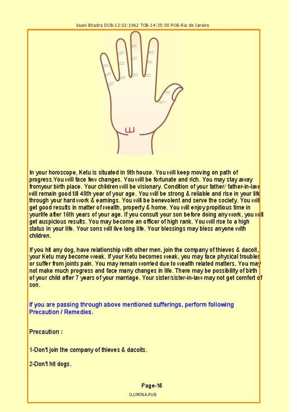Astro-Palmistry Report - Page 16