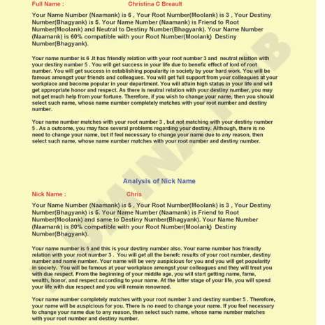Vedic Numerology Report - Page 05