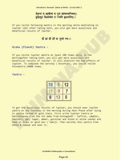Vedic Numerology Report - Page 14