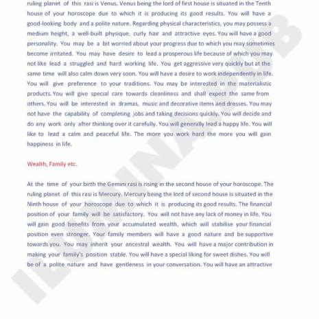 Vedic Horoscope Report - Page 47