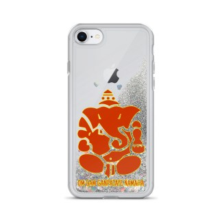 Ganesha Liquid Glitter Case for iPhone 7/8, Silver