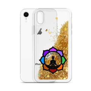 Inspirational Liquid Glitter Case for iPhone XR, Gold