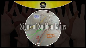 Signs of Sudden Gains in Palmistry