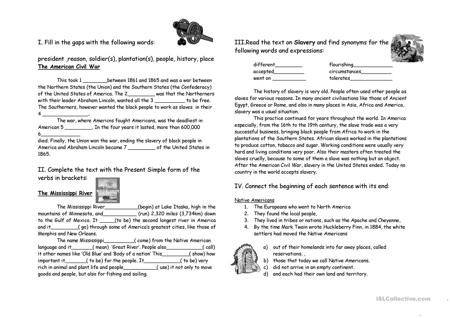 History Worksheet