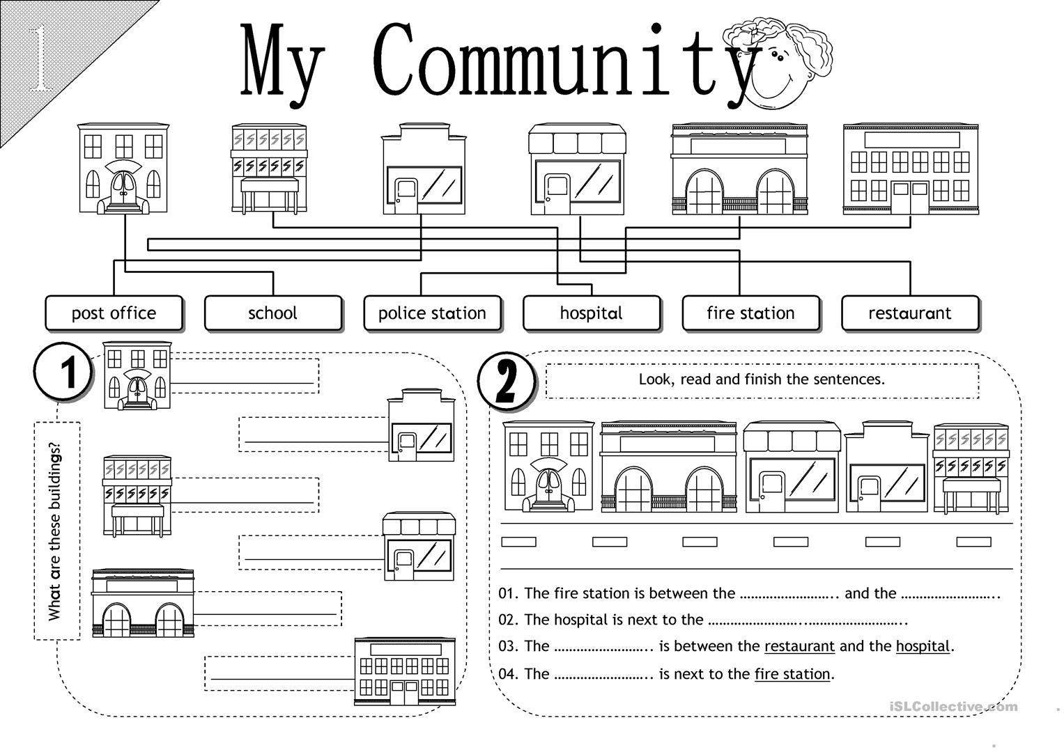 Community Places Worksheets For Kindergarten Cialiswow