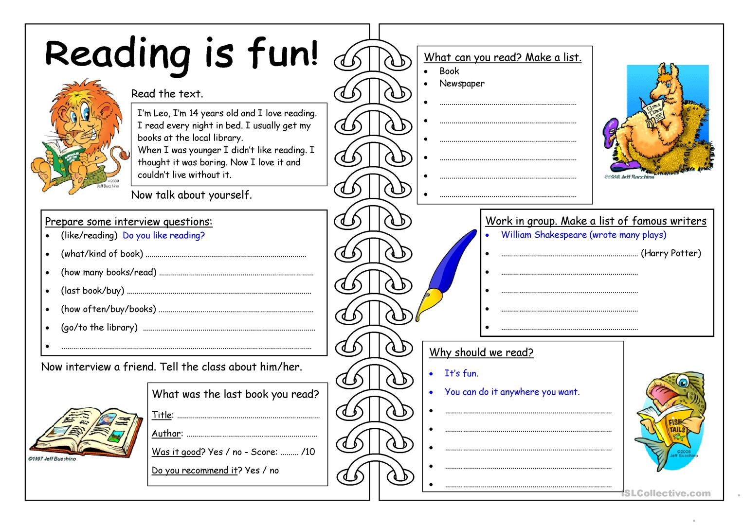 Hobbies Worksheet Esl