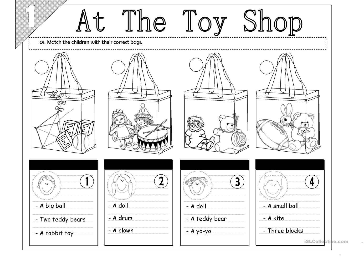 At The Toy Shop Worksheet