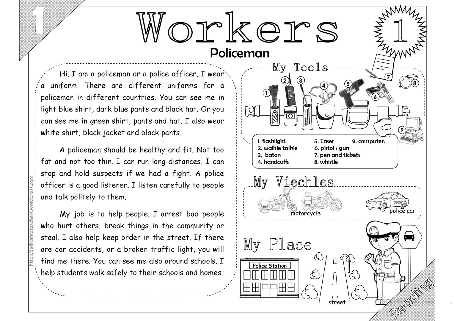 Workers 01 Policeman 2 Pages