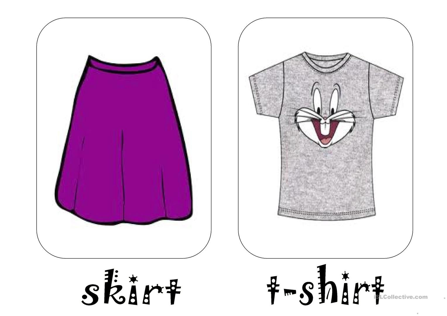 Clothes Pictionary Worksheet