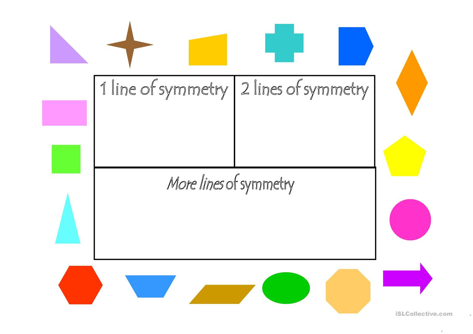Teaching Lines Of Symmetry Worksheets