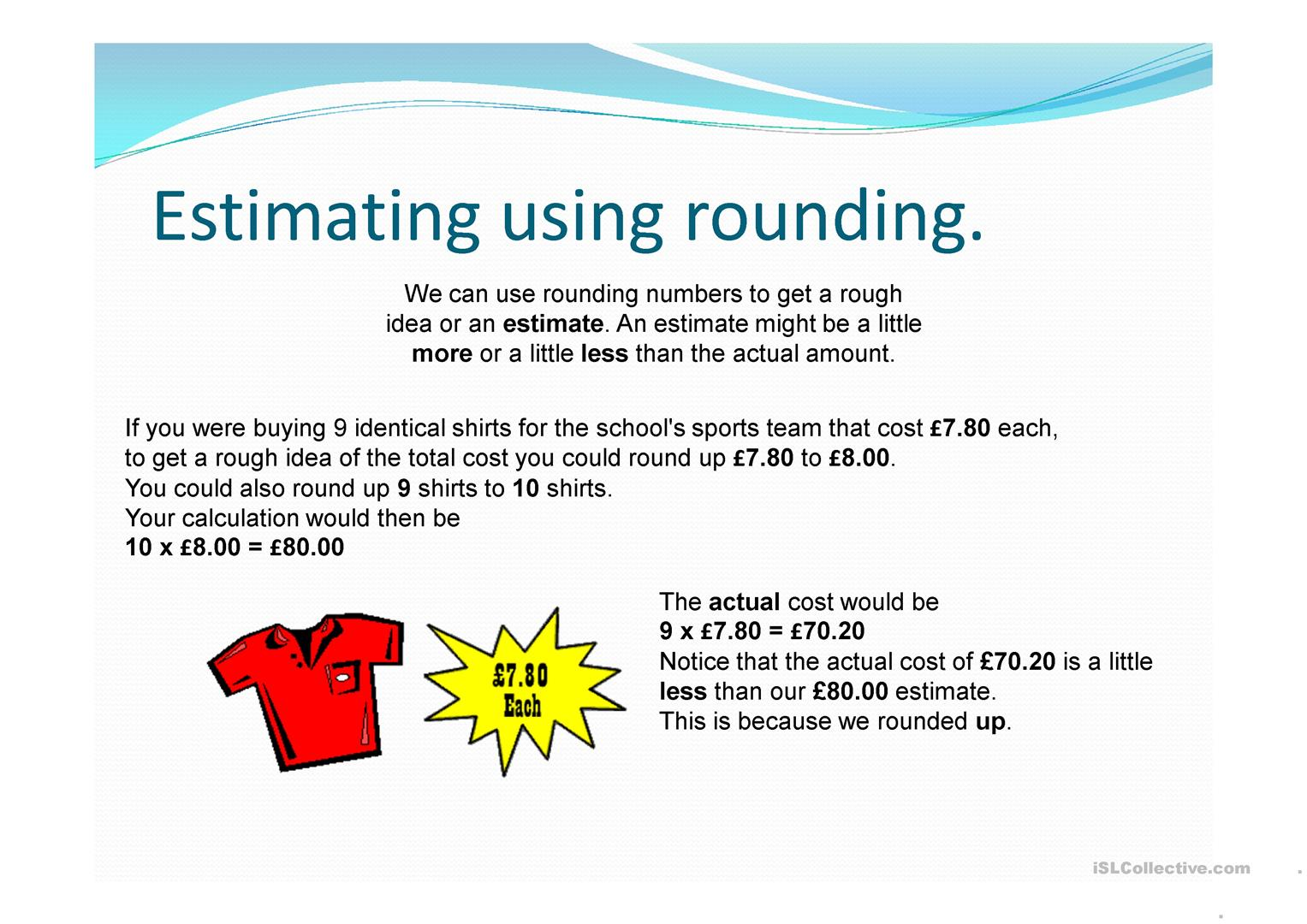 Rounding Amp Estimating Worksheet