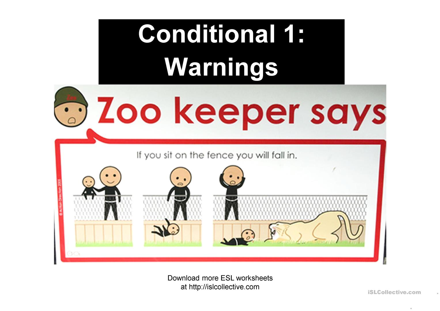 Zookeeper Says Conditional 1 Warnings Worksheet