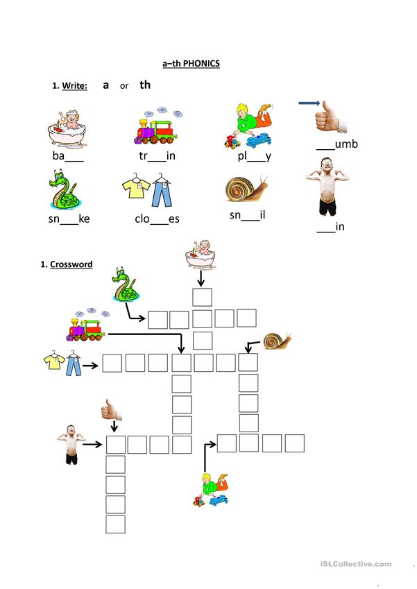 A And Th Phonics Worksheet
