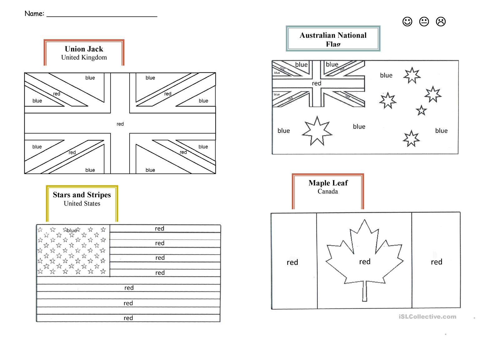 Symbol World Map Worksheet