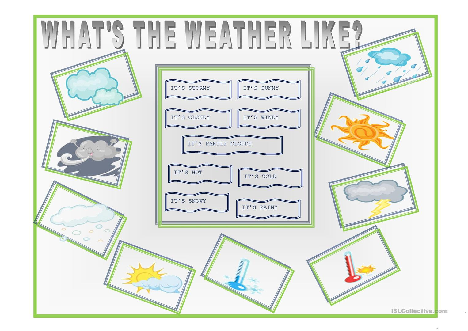 What S The Weather Like Worksheet