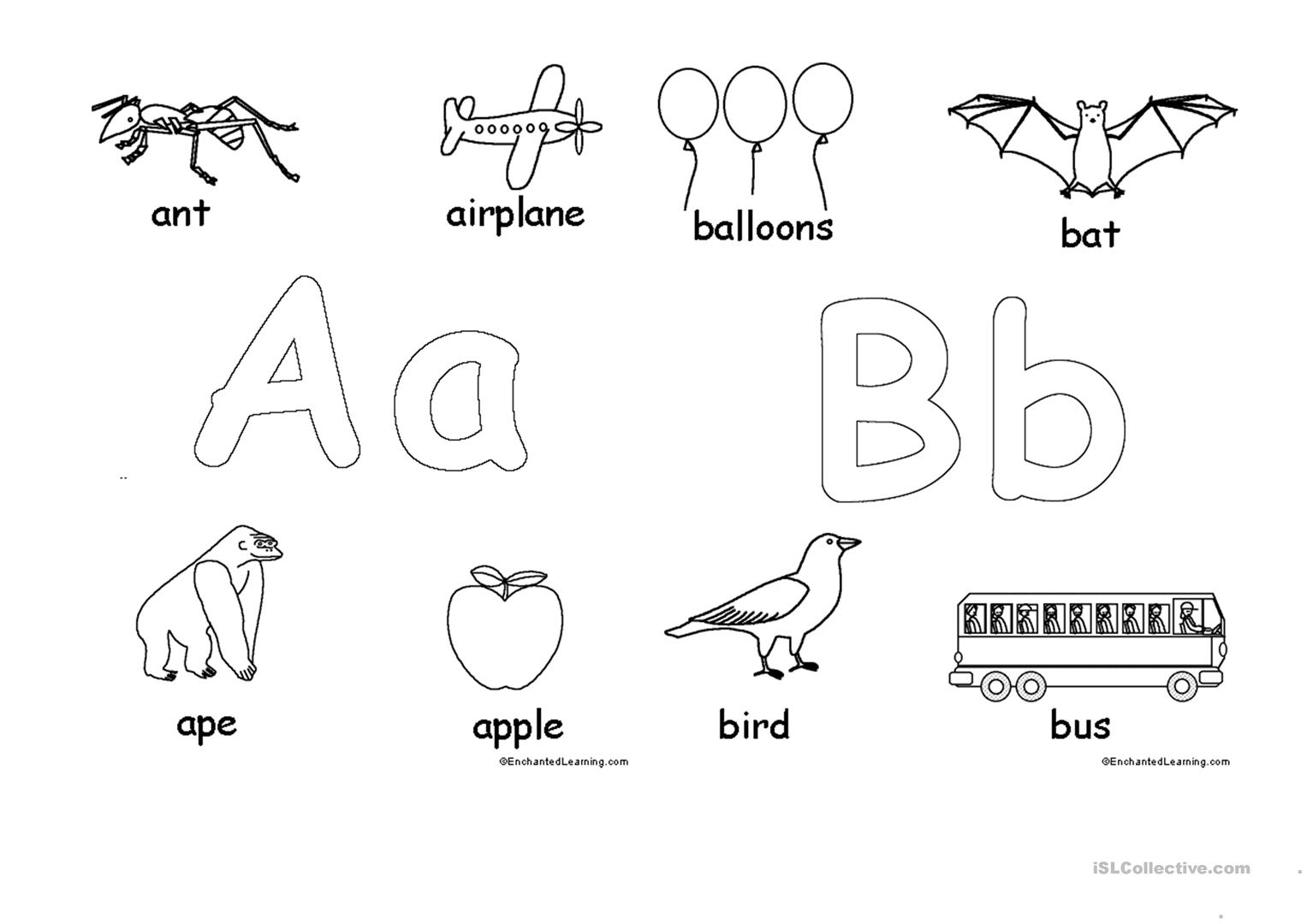 Alphabet For Coloring