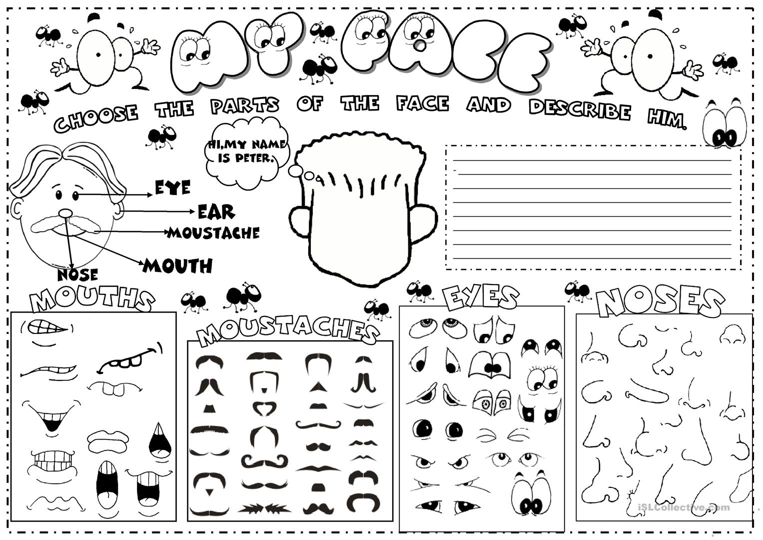 Face Worksheet