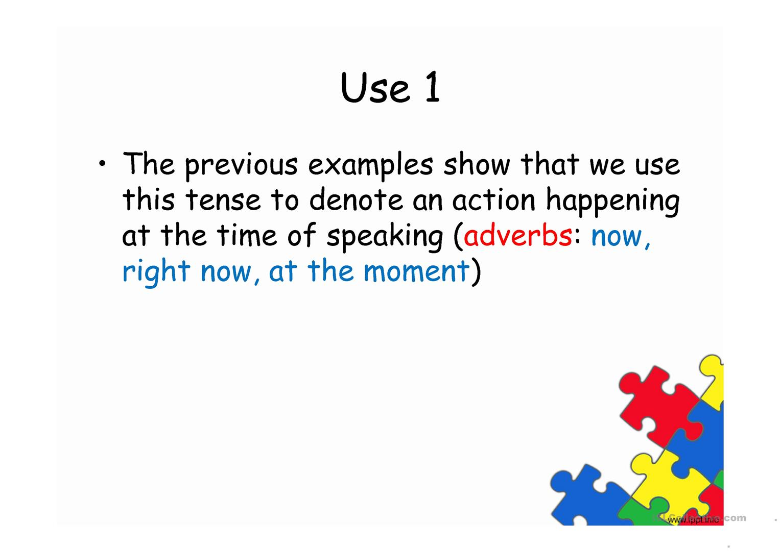 The Present Continuous Tense Worksheet