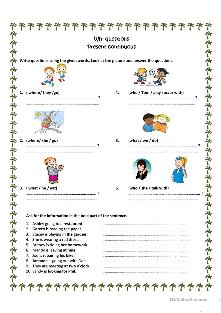 Beginners Simple Present Tense Exercises