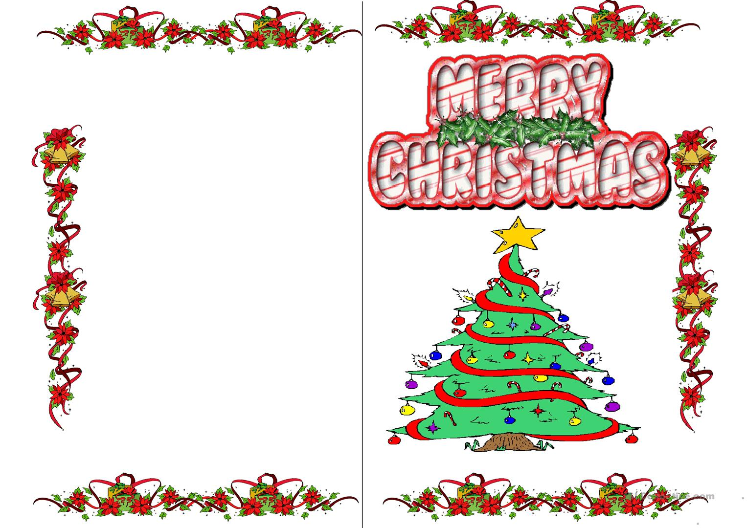 Christmas Cards Worksheet
