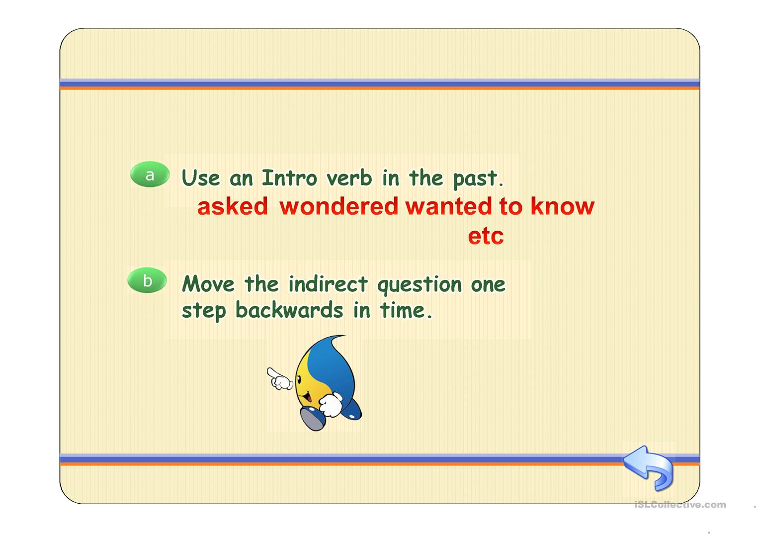Reported Questions Worksheet