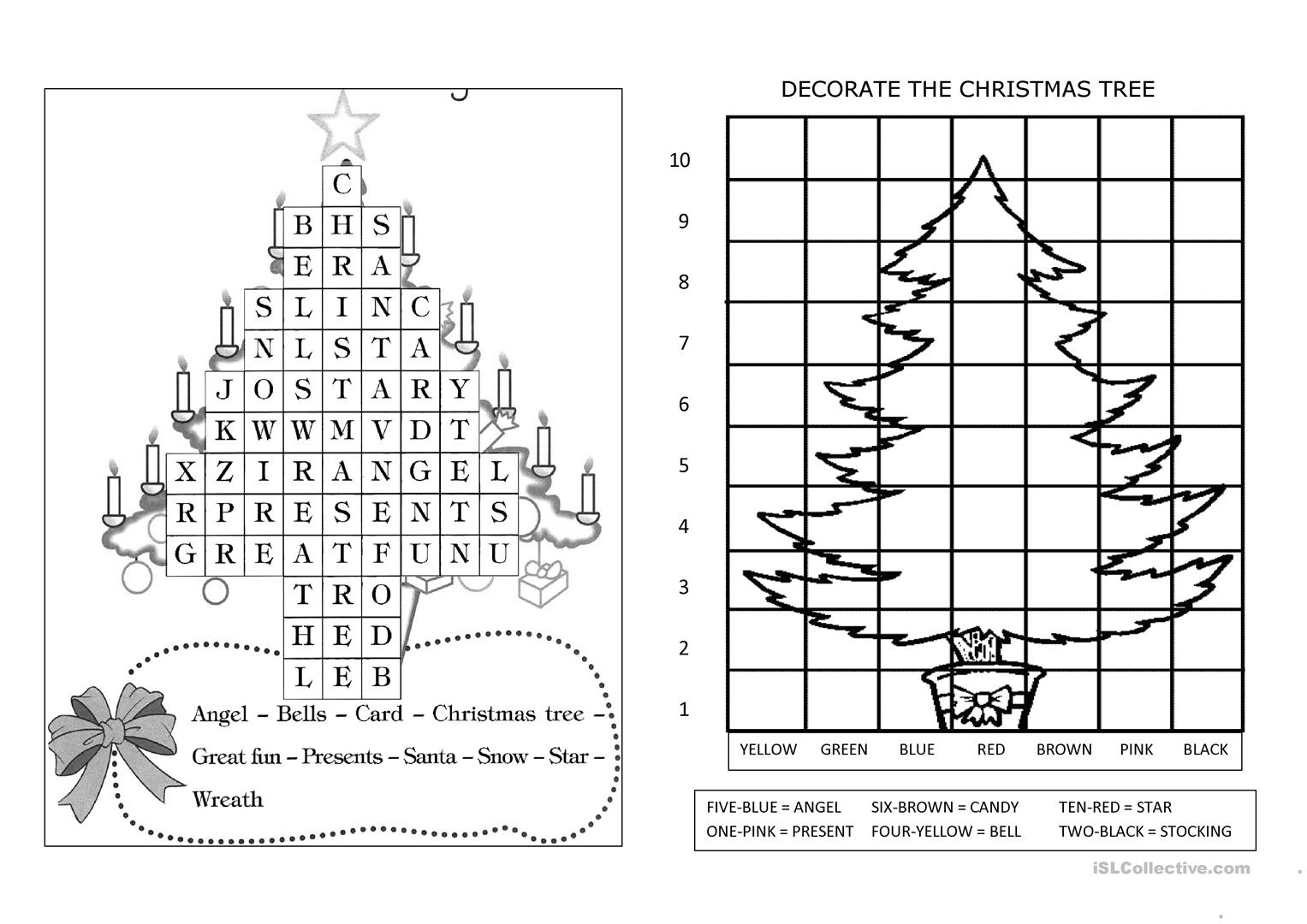 Christmas Booklet Worksheet