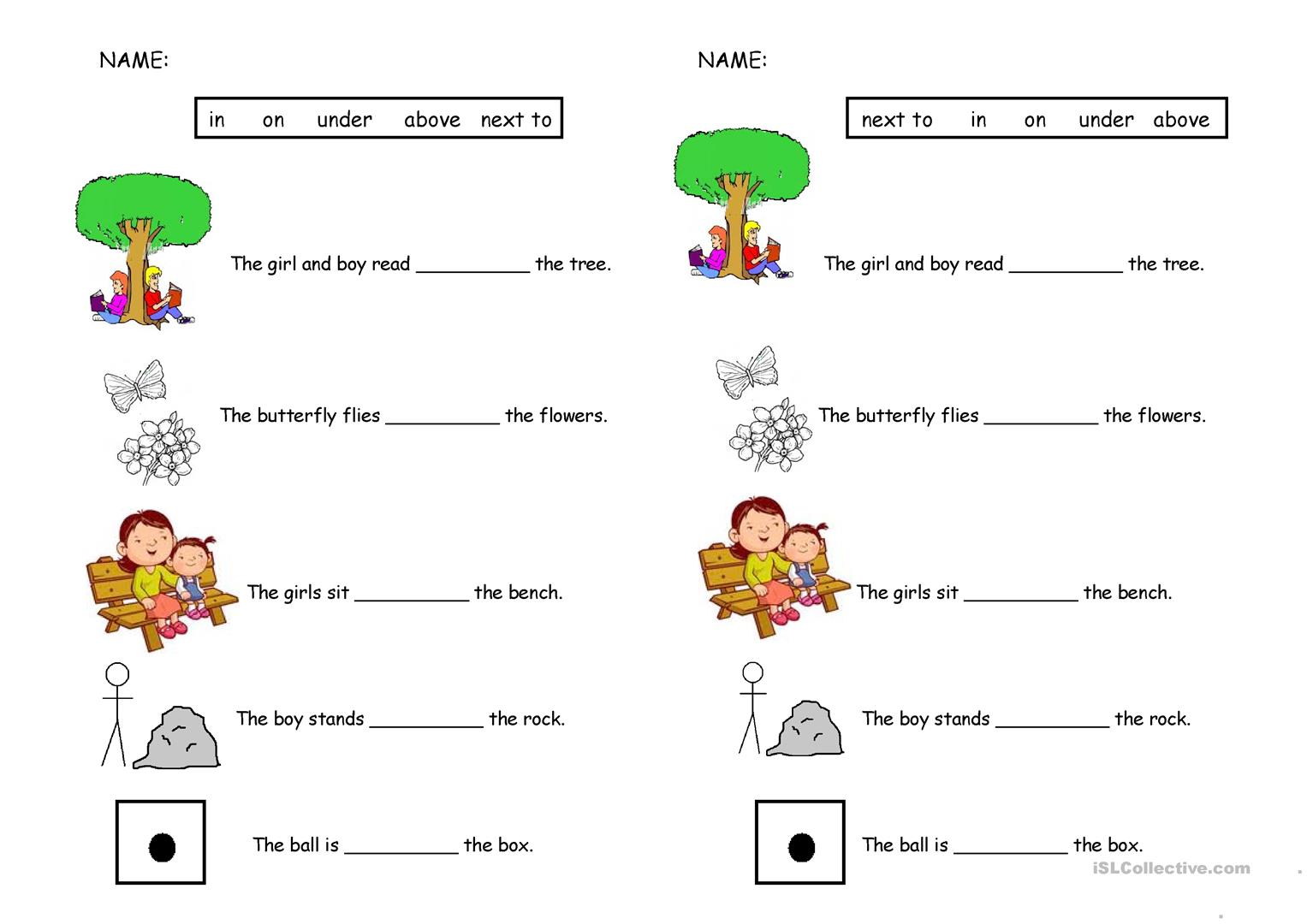 Preposition Quiz Worksheet